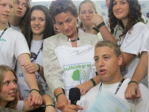 Climate ambassadors with Christiana Figueres at the sustainability conference Rio+20 (June 2012)