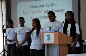 Students of YOUTHinkGreen at the Namibia Climate Change Knowledge Fair