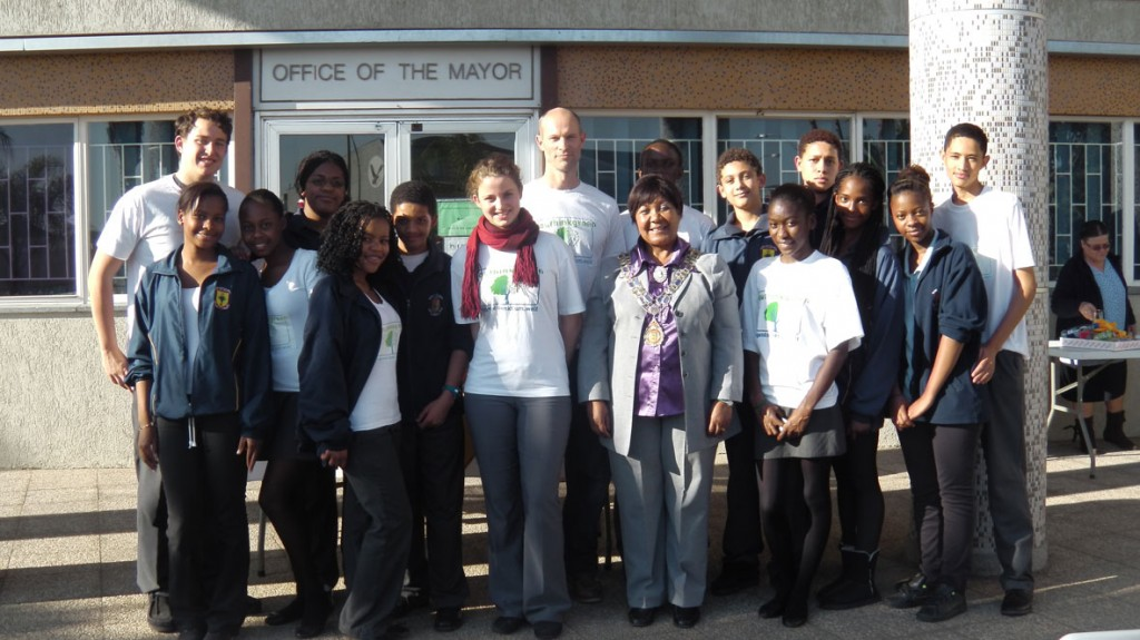 YOUTHinkGreen Namibia students with the Major of Windhoek, Hon. Trepper