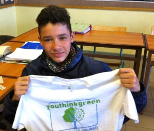 Karl Ehlers receives a YTG T-Shirt
