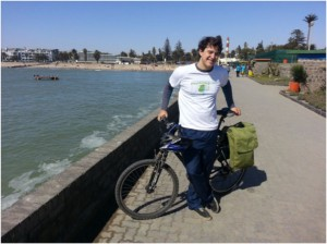 That's a happy YouThinkGreen ambassador in Swakopmund ;-)