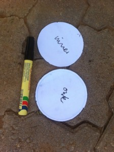 Circular paper templates